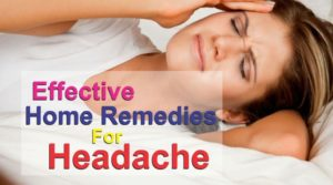 Effective Home Remedies For Headache