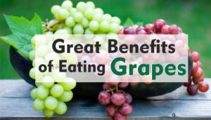 Great benefits of eating grapes