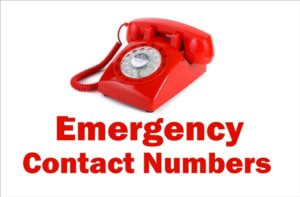 List of Emergency/Management Contact Numbers Currently 2018 India