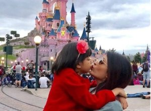 Aishwarya Rai in Disneyland Paris with Daughter Aaradhya