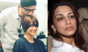 Haircut of Sonali Bendre for Cancer Treatment See Video