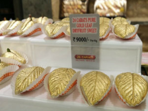 Surat is selling 24 carat Gold Sweets, cost 9000 Rupees