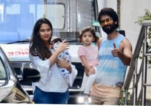Shahid & Mira leave hospital with Misha & baby Zain Kapoor