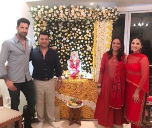 Sunny Leone's Housewarming with Husband on Ganesh Chaturthi